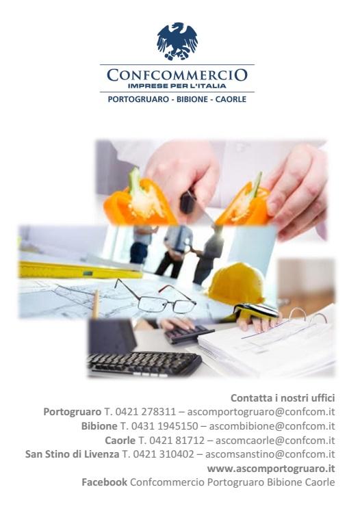 Carte Italie Bibione.Pieghevole Pag 4 Confcommercio Portogruaro Bibione Caorle